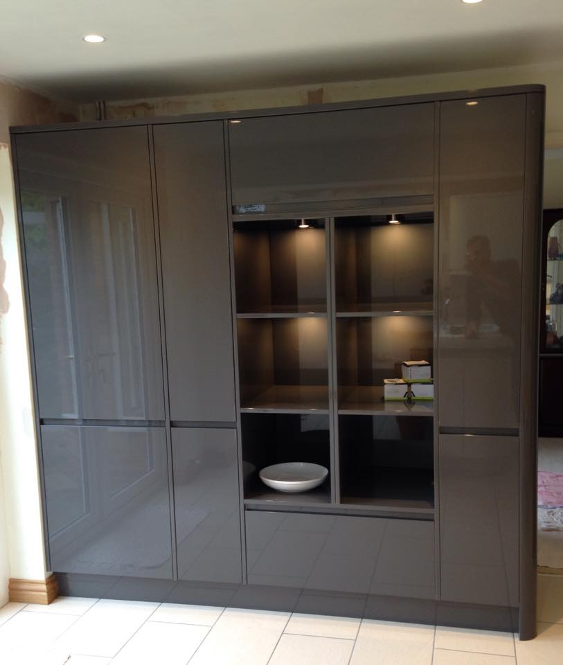 Bespoke Backlit Fitted Kitchen Cupboards
